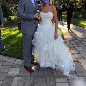 White by Vera Wang Strapless Tulle Wedding Dress